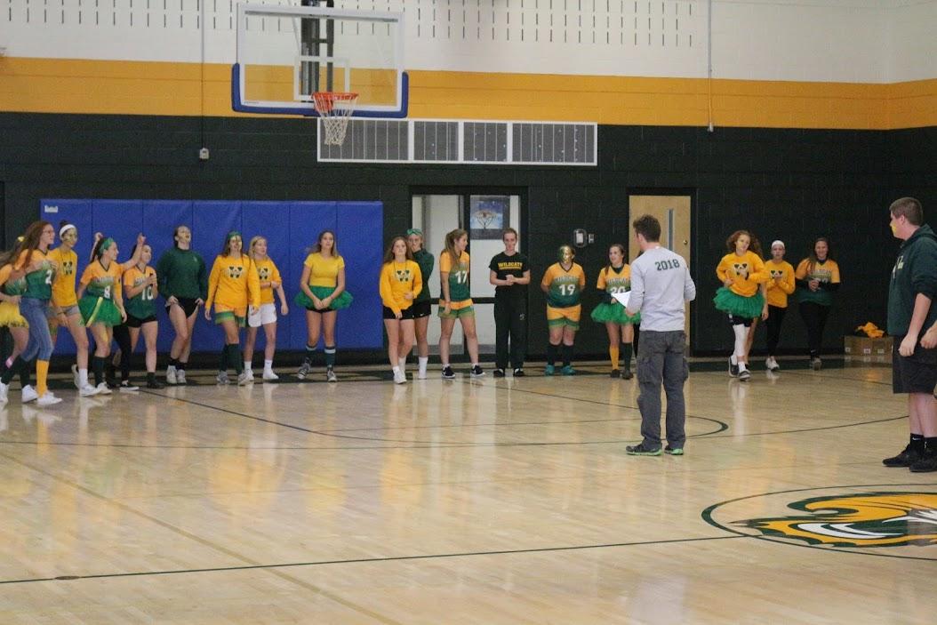 Girls Soccer Team @ Pep Rally.JPG
